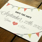 Personalised Vintage Bunting Wedding Save the Date or Save the Evening