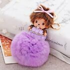 Monchhichi nipple fur plush ball key chain fashion doll Purse hangbag pendant