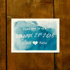 Watercolour Framed Wedding Save the Date or Save the Evening - Watercolor Modern