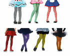 Girls Striped Tights 7 color combinations 3 Sizes Costume Accessory fnt