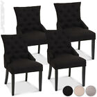 Sitting Set of 2 4 Upholstered Scoop Back Dining Chairs Wood Home Furniture