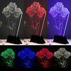 3D Illusion Bulbing Night 7 Color Change Table Desk Lamp LED Light Bedroom Decor