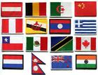 National flags emblem applique iron-on patch choose from 16