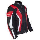 Spada Curve WP Leather CE Approved Motorbike Motorcycle Jacket Black Red White