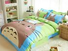 New 2016 Totoro Neighbour Bedding Set 4pc Queen King Bed BLUE Cotton Gift RARE