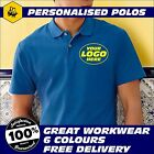 Mens/Adults Custom Printed Polo Shirt Personalised Workwear (SS214)
