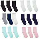 Rambutan Kids School Solid Colour Bamboo (Rayon) Seamless Socks 3 PACK