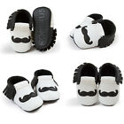 New Cute Infant White Moustache Tassel Baby Anti-Out Soft Soled Toddler Shoes
