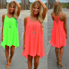 New Women's Elegant Chiffon Hollow Out Sleeveless Solid Cocktail Bud Dress