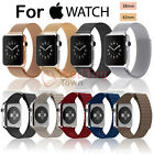 Genuine Leather Milanese Magnetic Stainless Silicone Watch Band For Apple Watch