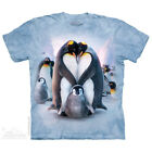 The Mountain PENGUIN HEART Adult Men T-Shirt S-2XL Short Sleeve PRINT IN USA