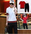 Fashion Women's clothing cropped trousers Casual sportswear suit