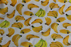 Bananas banana yellow 100% cotton chambrey Fabric material