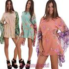 Cover-up robe woman maxi jersey transparent flowers bat suit new AS-2266