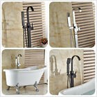 Bathroom Floor Mounted Tub Faucet With Hand Shower Mixer Tap