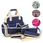 New 5pcs Multi-function Diaper Bag Mother Large Bag HandBag Backpack Useful Bag