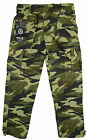 Boys Army Camouflage Camo Cargo Combat Pocket Trousers Khaki 3 to 10 Years