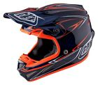 Troy Lee Designs 2017 SE4 Carbon MIPS Helmet Pinstripe Navy Adult All Sizes