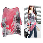 Ladies Women Boho Style Summer Chiffon Loose Shirt Casual Tops 2 Colours