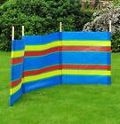 7, 8, 10 POLES BEACH HOLIDAY CARAVAN CAMPING WINDBREAK WINDBREAKERS IN SECTIONS