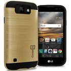 CoverON for LG K3 Case - Faux Brushed Metal Hard Cover