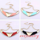 1x Tribal Enamel OX Horn Boomerang Egyptian Collar Choker Necklace Women Jewelry