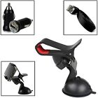 CLIP GRIP CAR SUCTION HOLDER WITH BULLET+FLAT CABLE FOR VARIOUS MOBILE PHONES