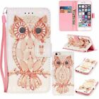 Leather Card Wallet Stand Shell Owl Flip Cover Case For LG/iPhone/Samsung/Hwawei