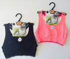 M&S Non Wired Medium Impact SPORTS BRA/Crop top-Small-Reversible BLACK or PINK