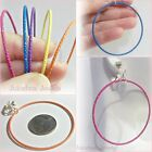 """CLIP ON 2-1/4"""" COLOR Plastic Coated HOOP Non-Pierced Thin Lightweight Earrings"""