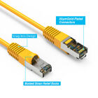Yellow 35Ft-150FT Cat6 Giga Lan Network Ethernet CMX Outdoor SSTP Shielded Cable