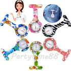 Nurse Watch Colorful Silicone Round Dial Analog Quartz Fob Brooch Pocket Gift PT