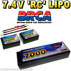 7.4V 3300mAh - 7000mAh 2s LiPo Hard Case RC Car Battery up to 65C BRCA