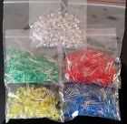 100/500 super bright LED Round 3mm/5mm WHITE, RED, GREEN, BLUE, YELLOW