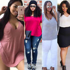 Plus Size Women Summer Loose Top Short Sleeve Blouse Casual Tops T-Shirt