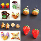 1 Pair Fashion Women Adorable Food Fruit Resin Pin Stud Earrings Woman Jewelry