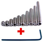 10-32 Set Screws 10 PICK YOUR SIZE Stainless Steel Hex Key Socket Grub Cup Point