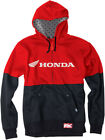 Factory Effex Licensed Honda Double Zip-Up Hoodie Black/Red Mens All Sizes