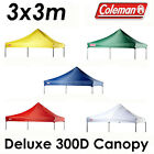 COLEMAN DELUXE 3x3m GAZEBO 300D CANOPY ROOF REPLACEMENT COVER TOP FITS OZTRAIL
