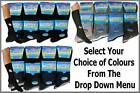 12 pairs MENS  NON ELASTIC 100% COTTON RIBBED SOCKS DIABETIC UK 6-11