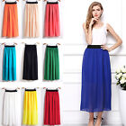 CH LADIES WOMENS LONG JERSEY MAXI SKIRT CHIFFON GYPSY BODYCON SUMMER DRESS GIFTS