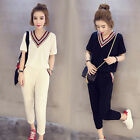 NEW! Fashion sport t-shirt suit Shitsuke Casual clothes loose two-piece suit