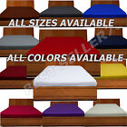 Plain Fitted Sheet Dyed Poly-Cotton Bed Sheet Single Double & King Size