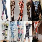 Womens Ladies Punk Funky  Leggings Tight Pencil  Stretchy Pencil Skinny Pants