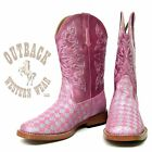Roper Kid's Pink Silver Sparkle Square Toe Boot 09-018-1901-0028