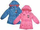 Girls Disney Minnie Mouse Cute Girl Hooded Winter Anorak Coat 3 to 8 Years