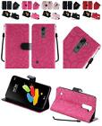 For LG Stylo 2 Plus MS550 Textured Design PU Leather Wallet Cover Case