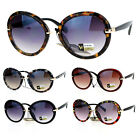 SA106 Designer Fashion Round Butterfly Oversize Sunglasses