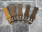 22mm Genuine Leather Strap Brown Tang Assolutamente Watch Band OMEGA Seamaster