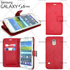 CASE COVER WALET LEATHER PU SAMSUNG GALAXY S5 MINI + FILM